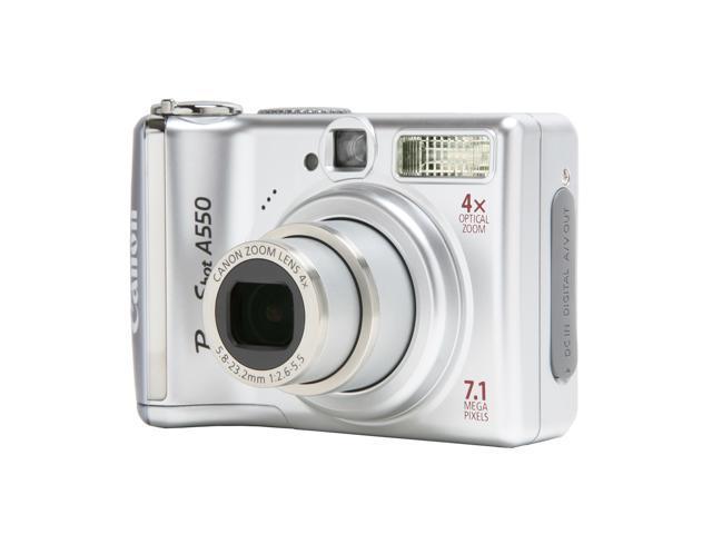 Canon PowerShot A550 Silver 7.1 MP 4X Optical Zoom Digital Camera