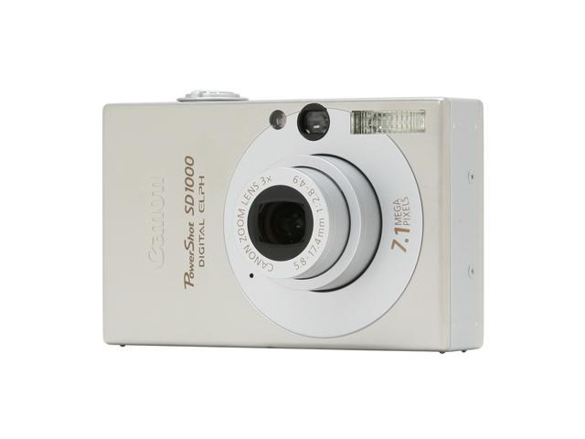 Canon PowerShot SD1000 Silver 7.1 MP 3X Optical Zoom Digital Camera