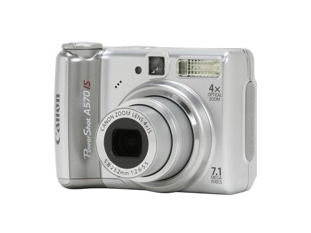 Canon PowerShot A 570 IS Silver 7.1 MP 4X Optical Zoom Digital Camera