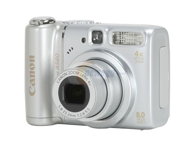 Canon PowerShot A580 Silver 8.0 MP 4X Optical Zoom Digital Camera