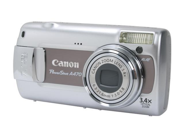 Canon PowerShot A470 Gray 7.1 MP 3.4X Optical Zoom Digital Camera