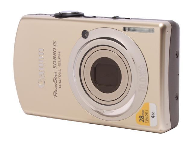 Canon PowerShot SD880 IS Gold 10 MP 4X Optical Zoom 28mm Wide Angle Digital Camera