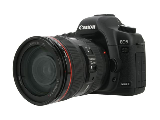 Canon EOS 5D Mark II Black Digital SLR Camera w/EF 24-105mm f/4L IS USM Lens