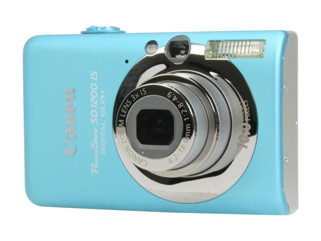 Canon PowerShot SD1200 IS Blue 10.0 MP Digital Camera