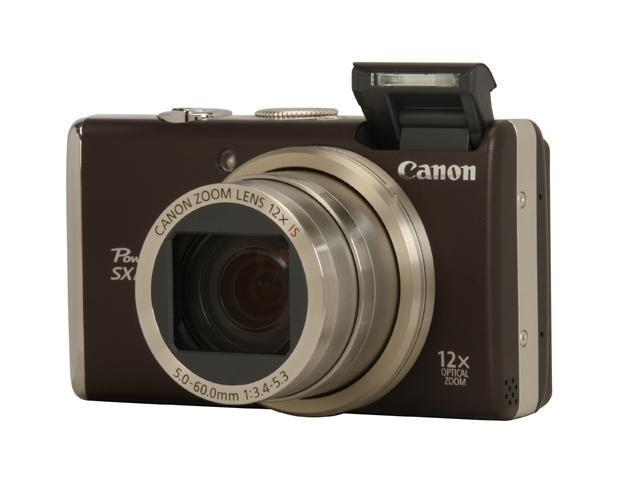 Canon PowerShot SX200 IS Black 12.1 MP 28mm Wide Angle Digital Camera