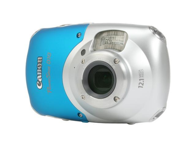Canon  PowerShot D10 12.1 MP Digital Camera – Shockproof/Freezeproof and Waterproof (Blue)
