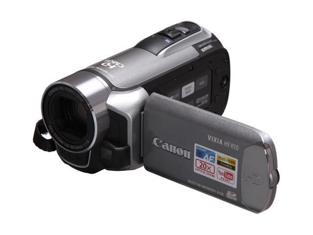 Canon VIXIA HF R10 Silver 8GB HD Dual Flash Memory Camcorder