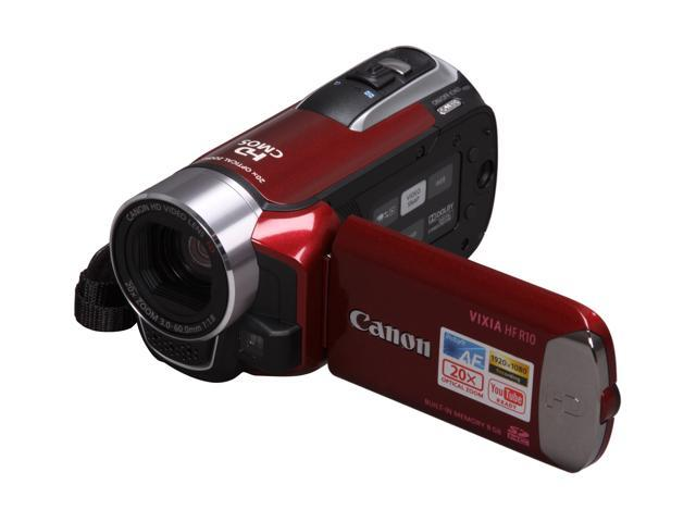 Canon VIXIA HF R10 Red 8GB HD Dual Flash Memory Camcorder