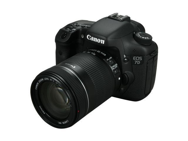 Canon EOS 7D 3814B016 Black 18.0 MP Digital SLR Camera w/ EF-S 18-135mm f/3.5-5.6 IS Lens