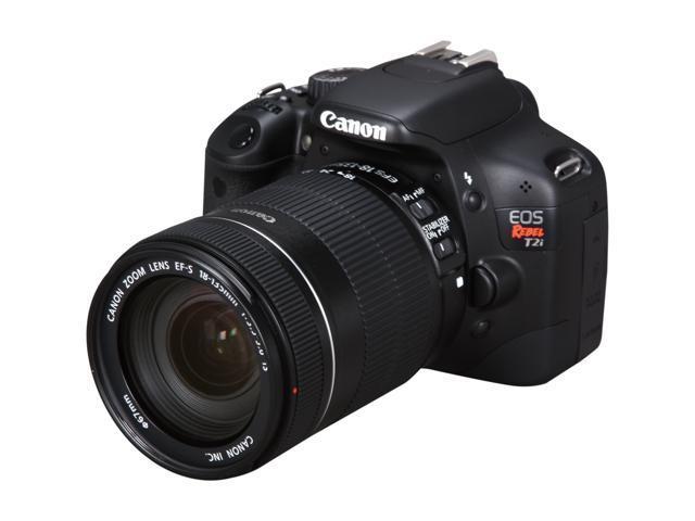 Canon EOS Rebel T2i Black 18.0 MP Digital SLR Camera w/ EF-S 18-135mm f/3.5-5.6 IS Lens
