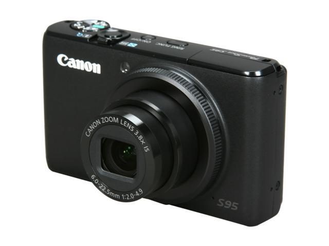 Canon PowerShot S95 Black 10.0 MP 3.0