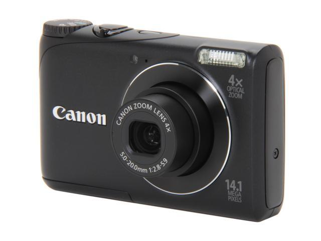 Canon A2200 Black 14.1 MP 4X Optical Zoom 28mm Wide Angle Digital Camera