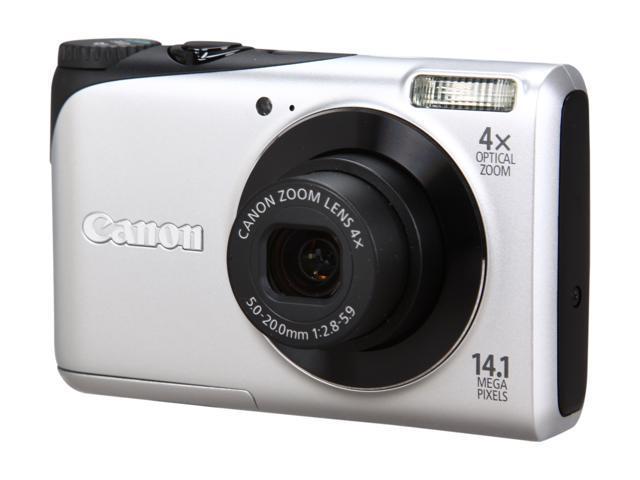 Canon A2200 Silver 14.1 MP 4X Optical Zoom 28mm Wide Angle Digital Camera