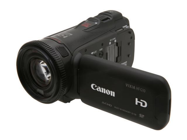 Canon VIXIA HF G10 (4923B002) Black High Definition HDD/Flash Memory Camcorder