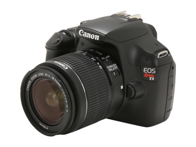Canon EOS REBEL T3 5157B002 Black 12.2 MP Digital SLR Camera with EF-S 18-55mm Lens