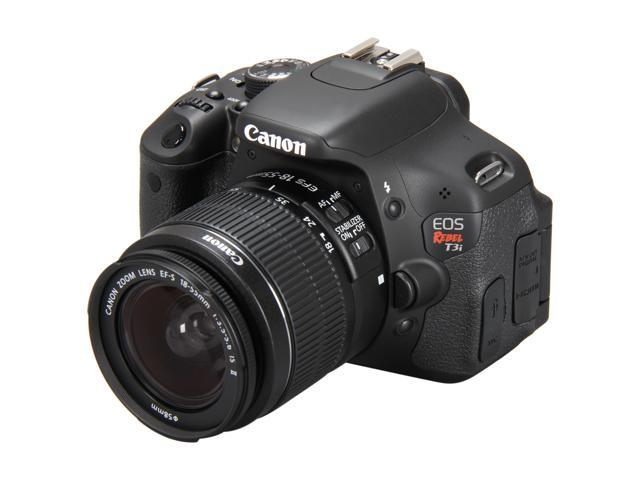 Canon EOS REBEL T3i 5169B003 Black 18.0 MP Digital SLR Camera with 18-55mm IS II Lens
