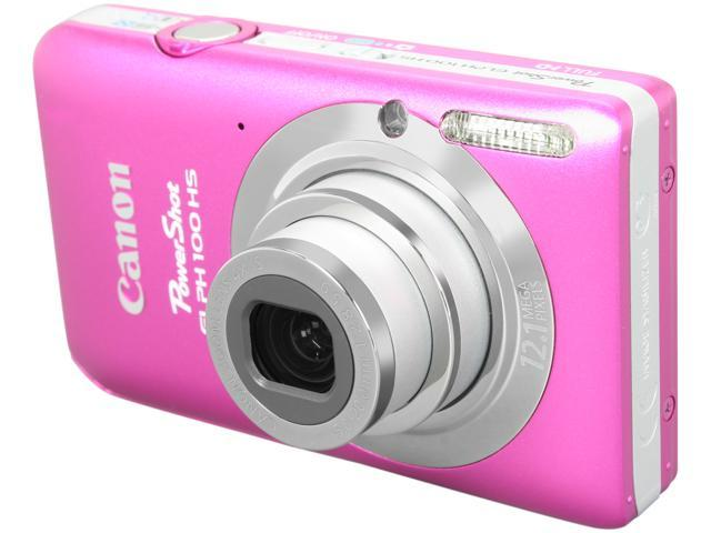 Canon Elph 100 HS Pink 12.1 MP 4X Optical Zoom 28mm Wide Angle Digital Camera