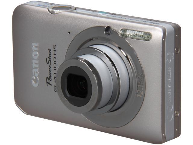 Canon Elph 100 HS Silver 12.1 MP 4X Optical Zoom 28mm Wide Angle Digital Camera