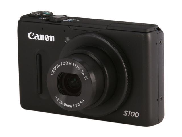 Canon PowerShot S100 Black 12.1 MP 24mm Wide Angle Digital Camera