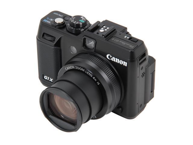Canon PowerShot G1 X Black 14.3 MP 4X Optical Zoom 28mm Wide Angle Digital Camera