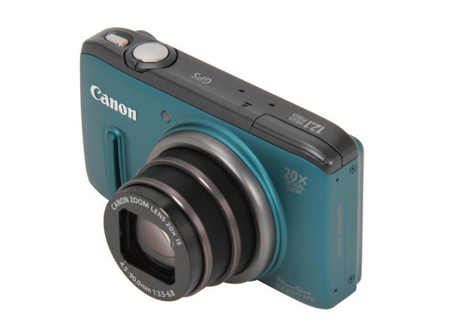 Canon PowerShot SX260 HS Green 12.1 MP 25mm Wide Angle Digital Camera HDTV Output