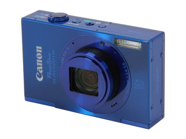 Canon ELPH 520 HS Blue 10.1 MP 12X Optical Zoom 28mm Wide Angle Digital Camera HDTV Output