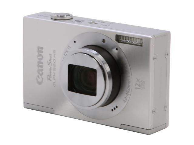 Canon ELPH 520 HS Silver 10.1 MP 28mm Wide Angle Digital Camera HDTV Output