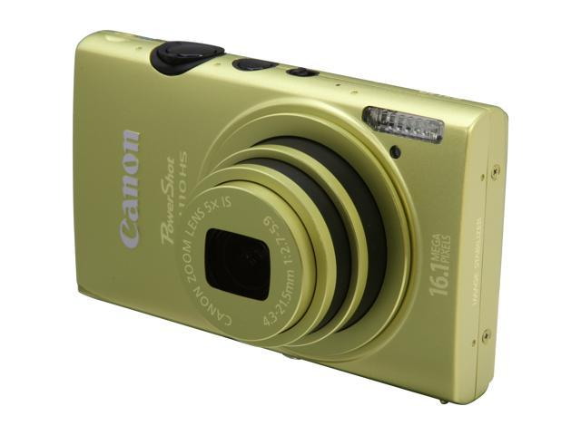 Canon ELPH 110 HS Green 16.1 MP 24mm Wide Angle Digital Camera HDTV Output