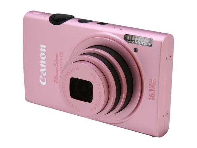 Canon ELPH 110 HS Pink 16.1 MP 5X Optical Zoom 24mm Wide Angle Digital Camera HDTV Output