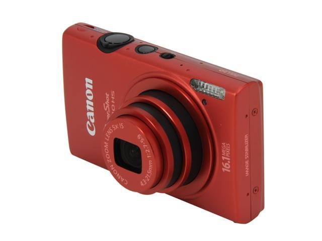 Canon ELPH 110 HS Red 16.1 MP 5X Optical Zoom 24mm Wide Angle Digital Camera HDTV Output