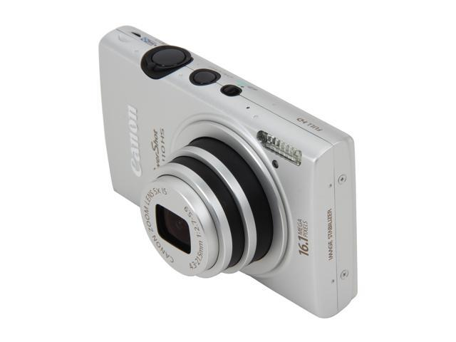 Canon PowerShot ELPH 110 HS Silver 16.1 MP 5X Optical Zoom 24mm Wide Angle Digital Camera HDTV Output