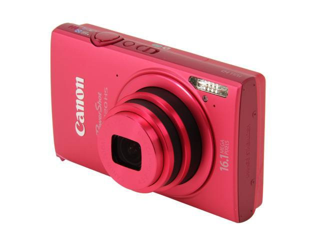 Canon PowerShot ELPH 320 HS Red 16.1 MP 24mm Wide Angle Point & Shoot HDTV Output