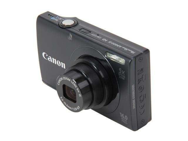 Canon PowerShot A3400 IS Black 16 MP 5X Optical Zoom 28mm Wide Angle Digital Camera