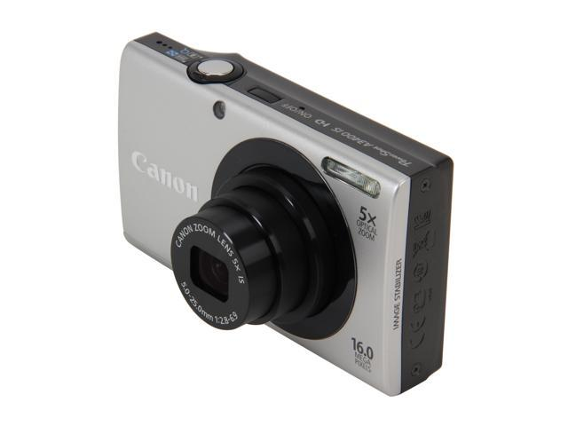 Canon PowerShot A3400 IS Silver 16 MP 5X Optical Zoom 28mm Wide Angle Digital Camera