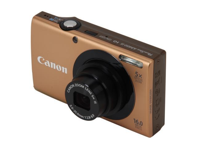 Canon PowerShot A3400 IS Gold 16.0 MP 5X Optical Zoom 28mm Wide Angle Digital Camera
