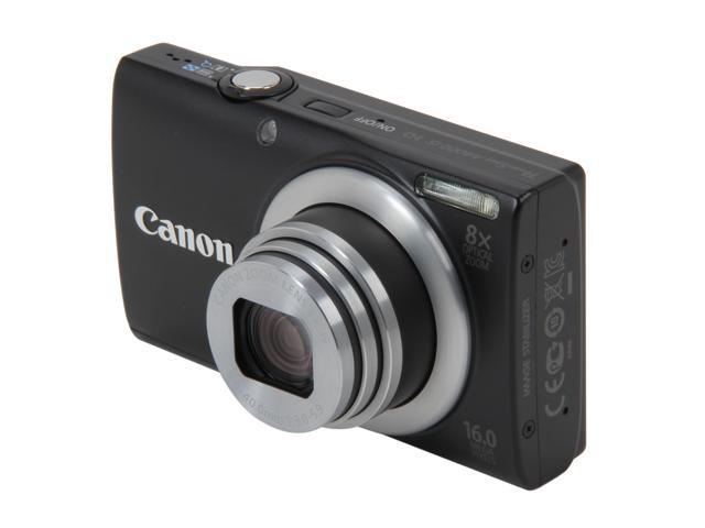 Canon PowerShot A4000 IS Black 16.0 MP 8X Optical Zoom 28mm Wide Angle Digital Camera