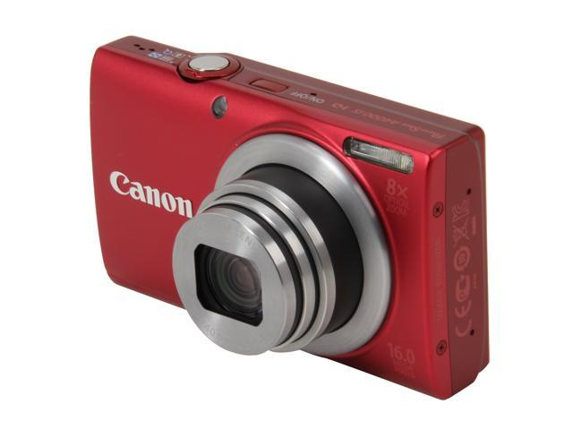 Canon PowerShot A4000 IS Red 16.0 MP 8X Optical Zoom 28mm Wide Angle Digital Camera