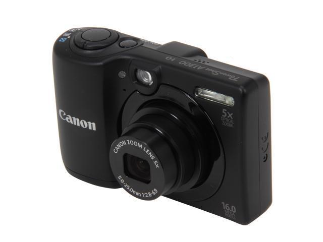 Canon PowerShot A1300 Black 16 MP 5X Optical Zoom 28mm Wide Angle Digital Camera