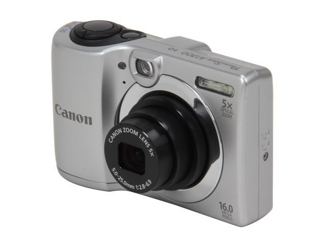 Canon PowerShot A1300 Silver 16 MP 5X Optical Zoom 28mm Wide Angle Digital Camera