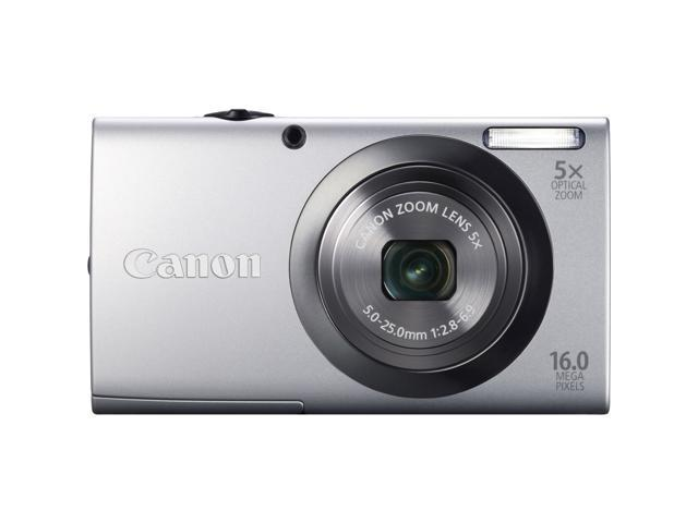 Canon PowerShot A2300 Silver 16.0 MP 5X Optical Zoom 28mm Wide Angle Digital Camera