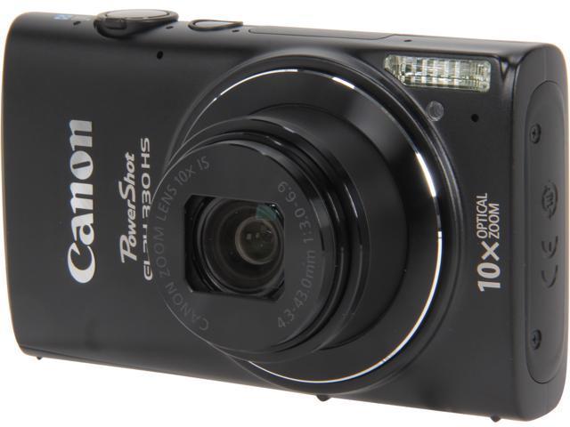 Canon PowerShot ELPH 330 HS Black 12.1 MP 24mm Wide Angle Digital Camera