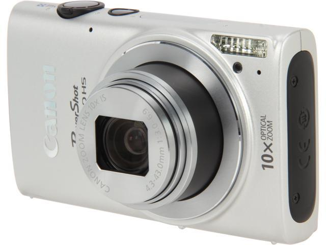 Canon PowerShot ELPH 330 HS Silver 12.1 MP 10X Optical Zoom 24mm Wide Angle Digital Camera