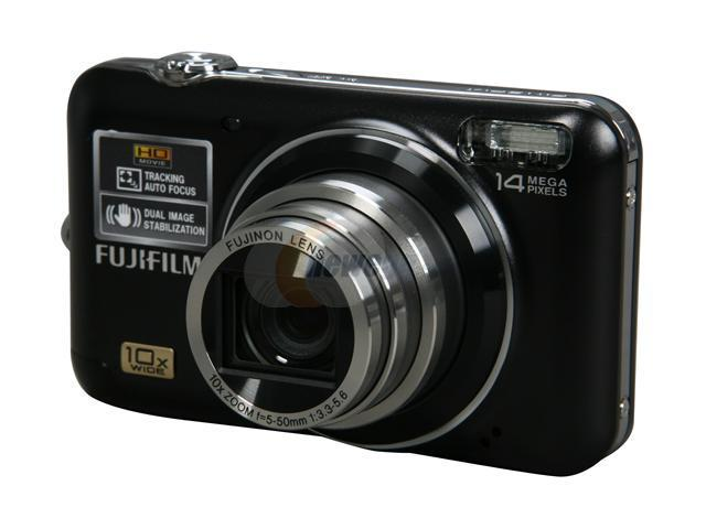 FUJIFILM FINEPIX JZ500 Black 14 MP 10X Optical Zoom 28mm Wide Angle Digital Camera