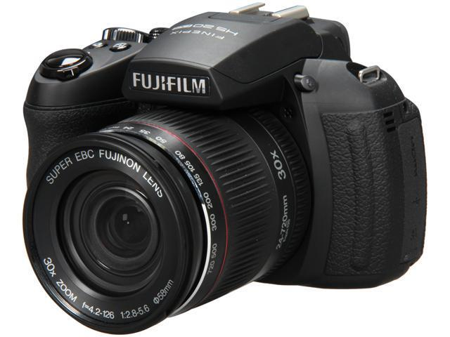 FUJIFILM HS20EXR Black 16.0 MP 30X Optical Zoom 24mm Wide Angle Digital Camera
