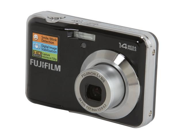 FUJIFILM AV200 Black 14 MP 3X Optical Zoom Wide Angle Digital Camera