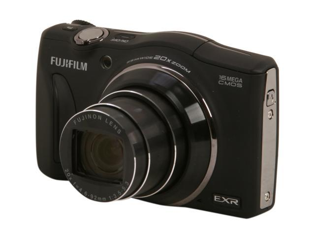 FUJIFILM F750EXR Black 16.0 MP 20X Optical Zoom Wide Angle Digital Camera