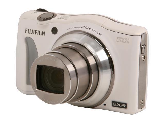 FUJIFILM F750EXR White 16.0 MP 20X Optical Zoom Wide Angle Digital Camera