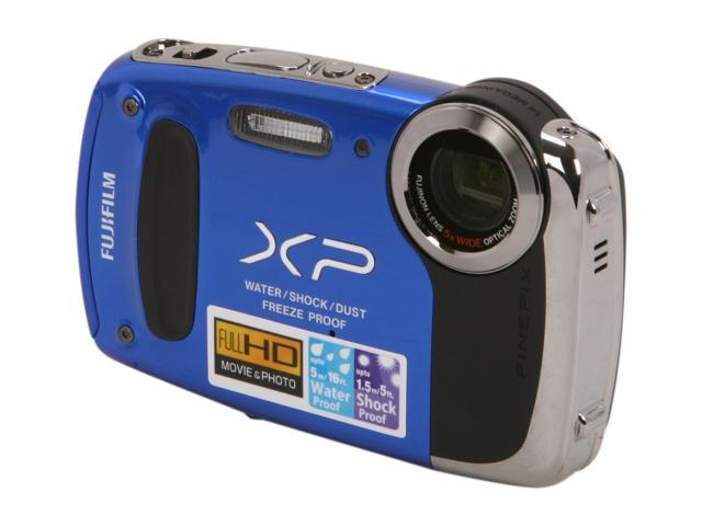 "FUJIFILM FinePix XP50 16233283 Blue 14.4 MP 2.7"" 230K Action Camera"