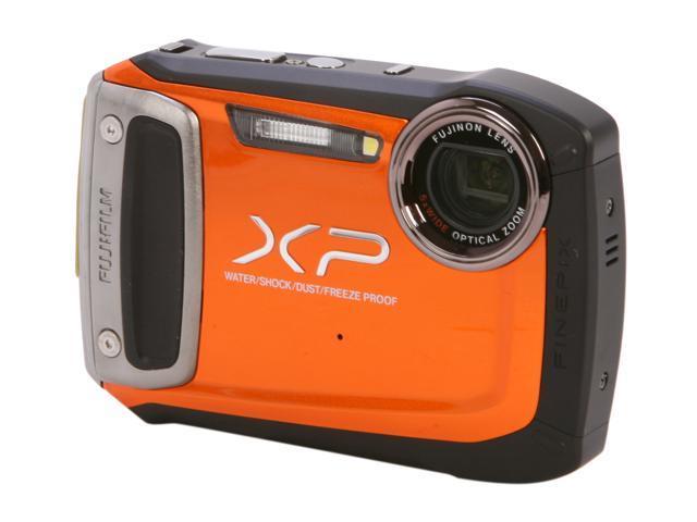 "FUJIFILM FinePix XP100 16229945 Orange 14.4 MP 2.7"" 230K Action Camera"