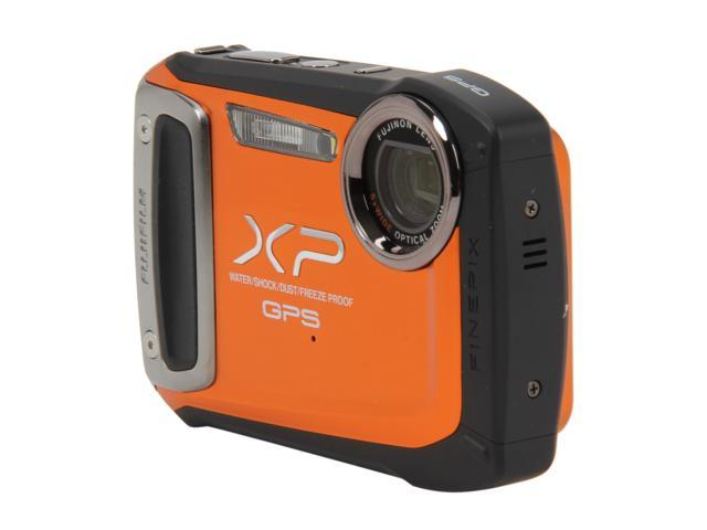 FUJIFILM XP150 Orange 14.4 MP 5X Optical Zoom Waterproof Shockproof Wide Angle Digital Camera